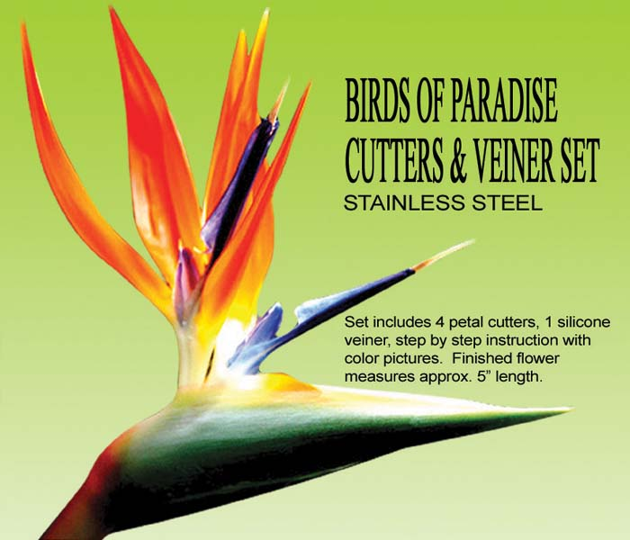 Birds Of Paradise Cutter and Veiner Set