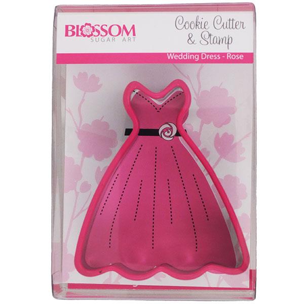 Wedding dress rose cookie cutter shop5thavenuecakes for Wedding dress cookie cutters