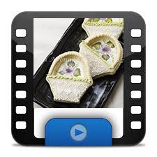 Handpaintedflowerbasketcookieicon