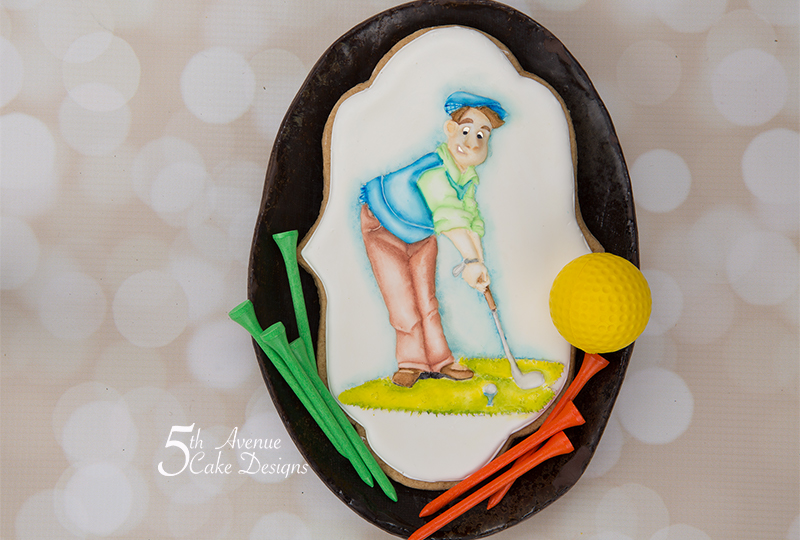 Golfing Joe Cookie Art Course 🏌️‍♂️⛳❤️