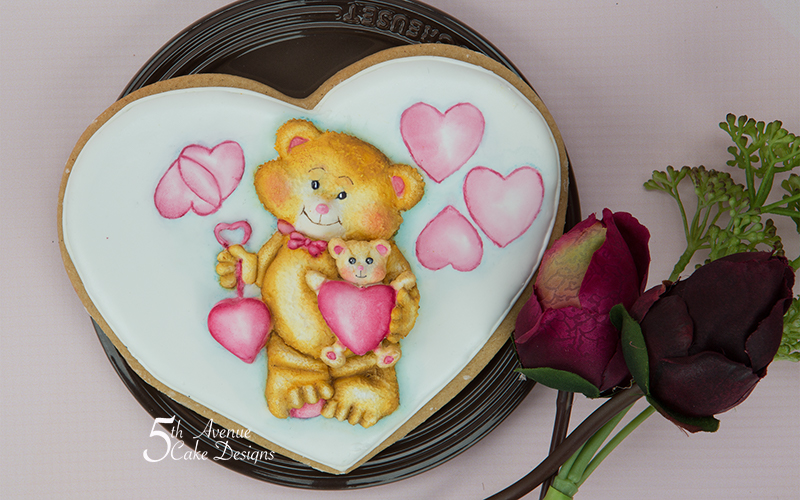 5ᵗʰ  I Love You Beary Much Cookie Art Course 🐻 💕💝