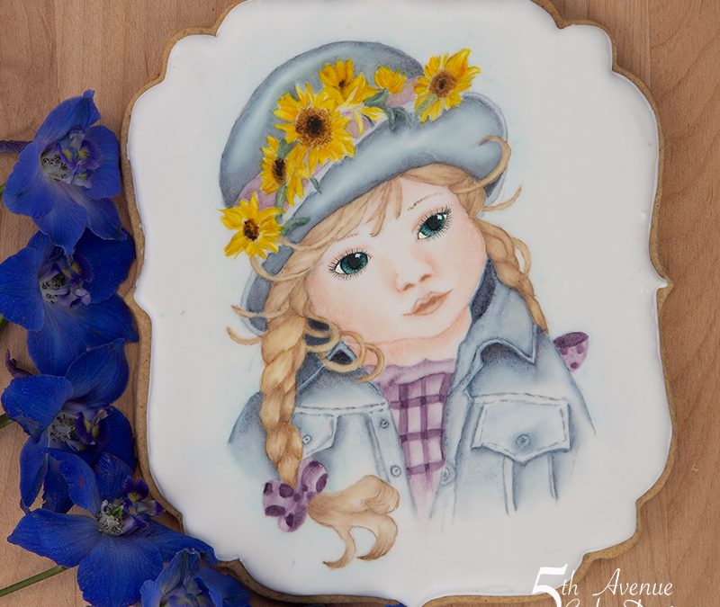 Hand Painted Portrait of a Child Cookie Course 🧒🏼🎨🖌️