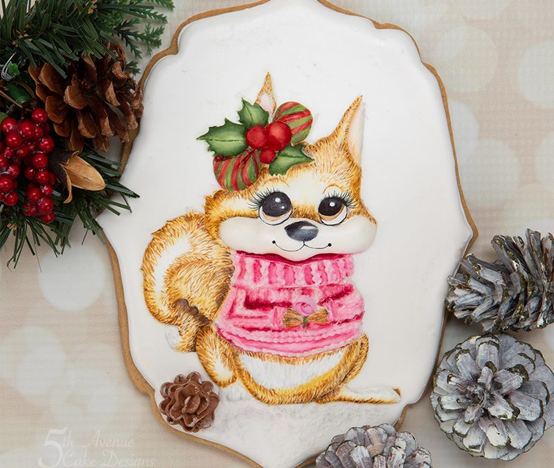 Holly the Holiday Squirrel Cookie Art Course