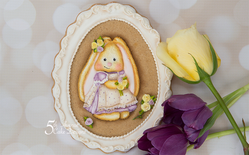 Funny Bunny Cookie Frame 🐰🌹🌱