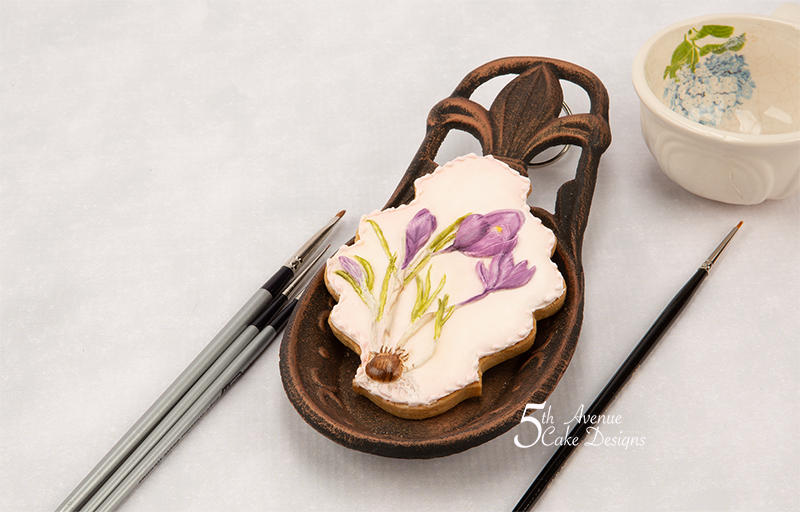 5ᵗʰ Avenue's Saffron Crocus Flower Cookie Art Course 💐🌱👒