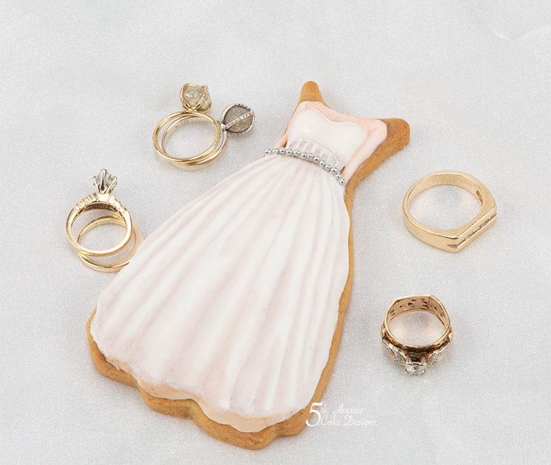 Vintage Modern White Wedding Dress Cookie Art Course 🎩💐👰