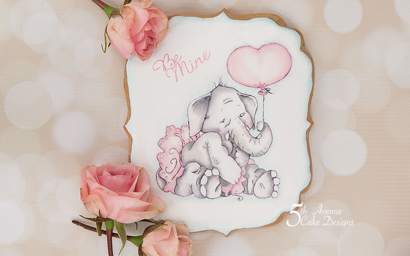 Ella Elephant I Love You Tons Cookie Art Course  💝🐘❣️