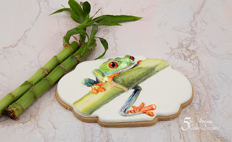 Travis the Tree Frog Cookie Art Course 🐸🎋
