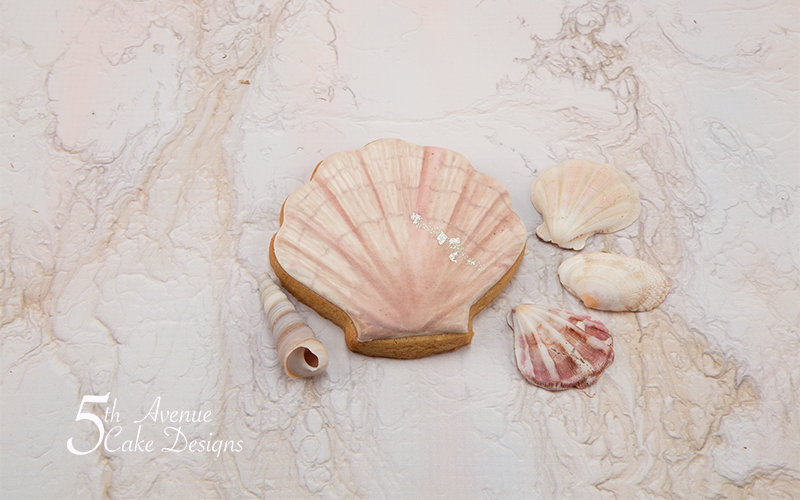 Scallop Seashell Cookie Art Course 🐚🌊🌤️