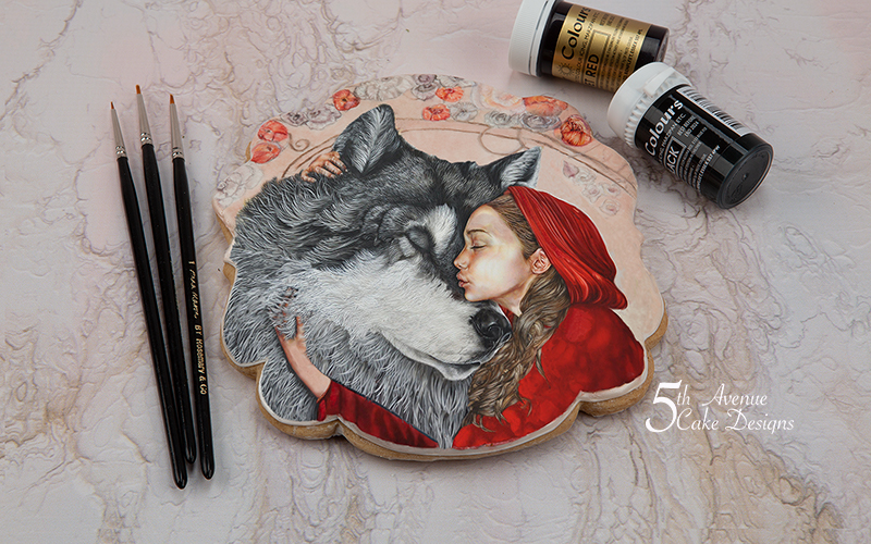 Little Red Riding Hood Fairy Tale Cookie Art Course 🐺☃️🎄