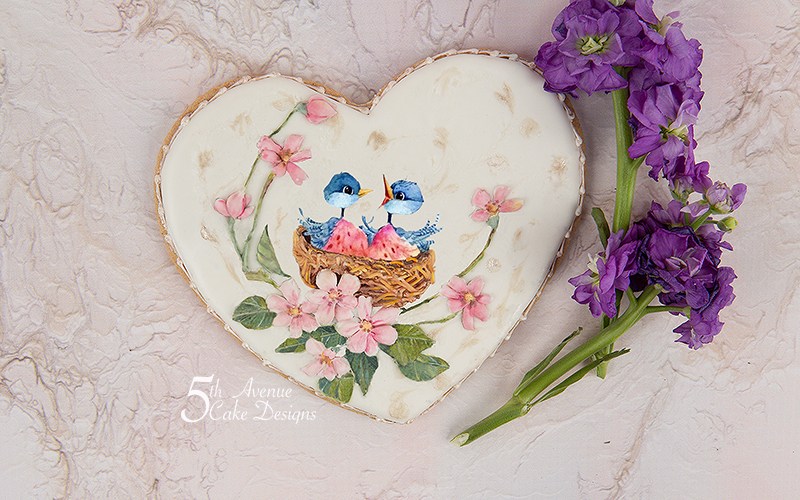 5ᵗʰ Avenue's Two of a Kind Cookie Art Course 🌸🐦💐