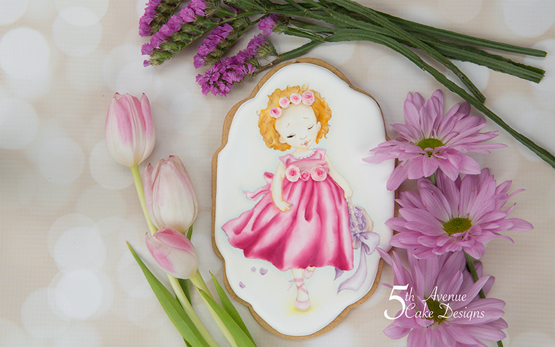5ᵗʰ Avenue's Flower Girl Cookie Art Course  💐🌹🌺