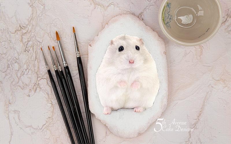 Dimensional Watercolor Hamster Cookie Art Course 🐹🖌️😋