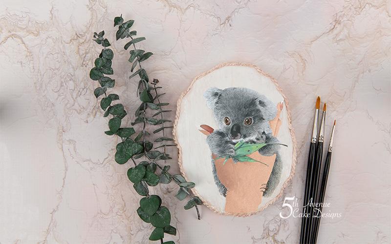 Dimensional Watercolor Baby Koala Cookie Art Course🐨🍃🎨